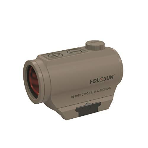 Holosun HS403B-FDE Microdot Rotpunkt Visier mit 2MOA Punkt Absehen, FDE, Picatinny/Weaver Schiene, für die Jagd, Sportschießen und Softair, Tactical Micro red dot Sight - 70134964