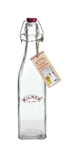 12 x Kilner Clip Top Glas Bewaar Fles Olie Voedsel Dressing 0.55 Liter