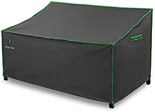 Patio Sofa Cover, Heavy Duty Waterproof UV Resistant Anti-Fading Outdoor 3-Seater Bench Cover, Grey, 82