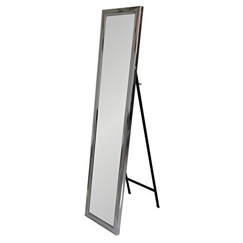 Espejo pie Plateado plástico Moderno Dormitorio 37