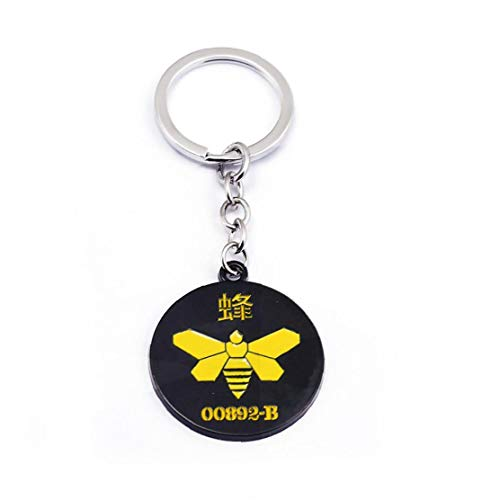 1PC Breaking Bad Merchandise Chemical Marker Bee Schlüsselanhänger Kühle Tv Props Breaking Bad Geschenke Keychain Bee 00892-B-Symbol Schlüsselanhänger