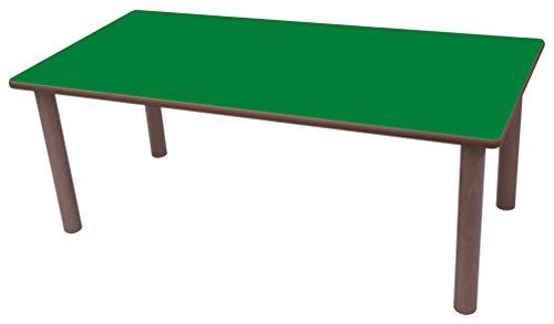 Mobeduc-Tavolo rettangolare, in legno 120 x 60 cm, talla 1 Haya y verde oscuro