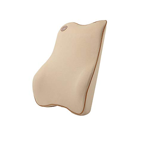 VDSON Lumbar support cushion Comfortable Memory Foam Lumbar Support Back Cover Balanced Firmness Designed Car Seat Car pillow (Color : Brown, Size : Free size)