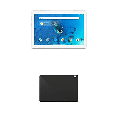 Lenovo Tab M10 25, 5 cm (10, 1 Zoll HD IPS Touch) Tablet-PC (Qualcomm Snapdragon 429 Quad-Core, 2 GB RAM, 16 GB eMCP, Wi-Fi, Android 9) weiß + Tab M10 (HD) Schutzhülle mit integrierten Stand, schwarz