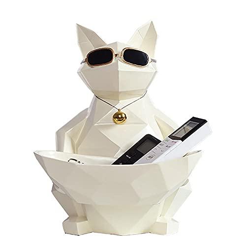 Geometrisk katt figurer Vävnadslåda hög kvalitet Toalettpapper förvaring Dekorativa tillbehör Bystskulpturer Behållare småförvaring för låda med näsdukar med bricka smycken Multifunktion
