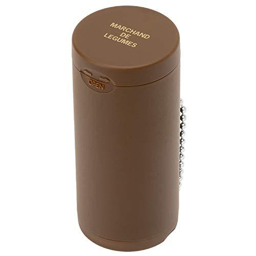 Dreams(ドリームズ) 携帯灰皿 ポケットアッシュトレイ ラバー ハニカム 6本収納 ブラウン MDL45096 直径3.5×高さ7.8cm