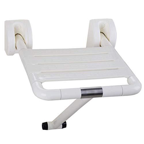 GWFVA Handrail Badleuning RVS Handrail Barrier Douche Kruk Badkruk Opvouwbare Kruk Wit Geschikt voor Kinderen, Ouderen, Handicapped