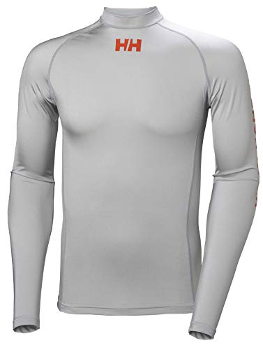 Helly Hansen Long Sleeve Rash Vest Grey Fog 34023 Size - XL