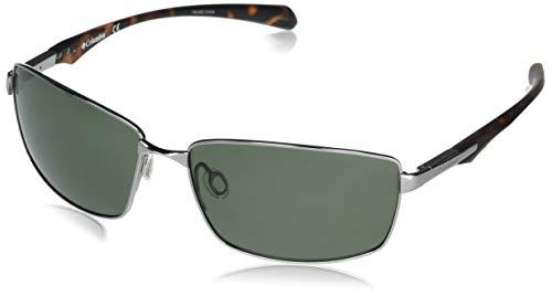 Columbia Men's Trollers Best Rectangular Sunglasses, Gunmetal/G15 Polarized, 62 mm