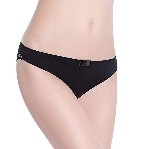Buy and buy at Brandon Ice Silk Seamless lace Panties Female Hollow sexy Low Waist Cotton 裆 Women's underwearA-1blackA-1M