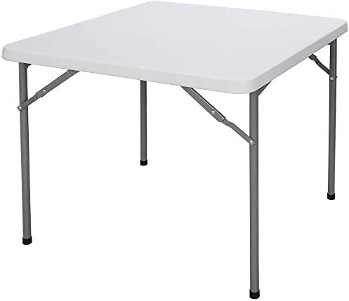 ZenStyle 3 ft Plastic Folding Table Square Resin Multipurpose Card Table Foldable Utility Table product image