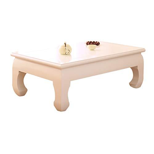 Tables Basse De Salon Antique Basse en Bois Massif Basse Blanche À Thé Basse Baie Vitrée À Tatami Basse Balcon Basses