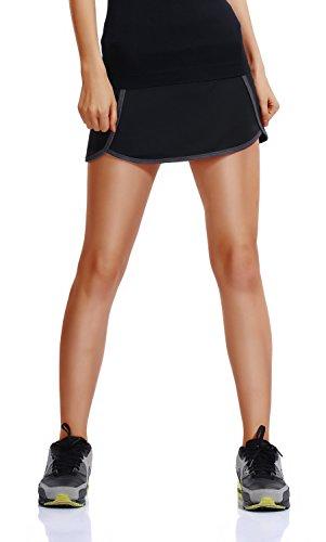 Falda de Tenis Skort Golf Mujer Niña Negra Pantalón Ropa Padel Running Corta Moda Deportivas Short XL