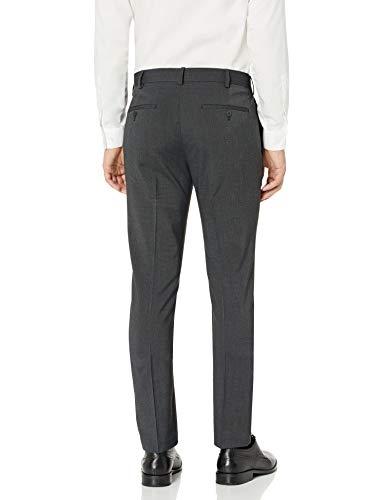 AXIST Men's Flat Front Very Slim Fit Nailshead Dress Pant, Jet Black, 31×30