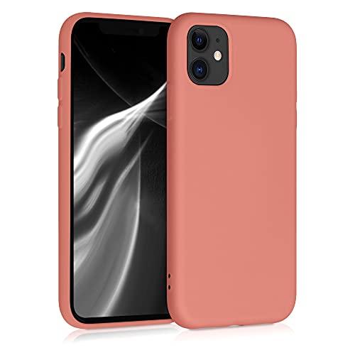 kwmobile Custodia Compatibile con Apple iPhone 11 - Cover Silicone Gommato - Back Case Protezione Posteriore Cellulare - Terra di Siena
