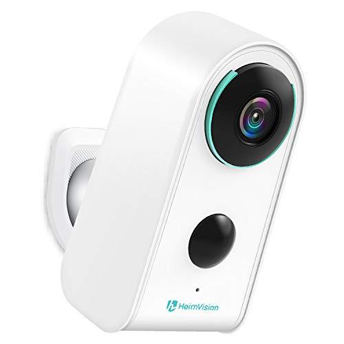 [2021 Neues Upgrade] HeimVision Akku Überwachungskamera Außen, 1080P Kabellose WLAN Kamera Outdoor mit PIR Bewegungsmelder, IP65 wasserdichte WiFi Sicherheitskamera, 2-Wege Audio, IR Nachtsicht