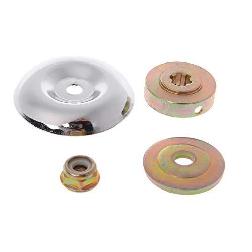 JOYKK 4 Piezas/Juego Caja de Engranajes de Repuesto Cortador de Cepillo Universal para cortacéspedes Partes de Strimmer - Oro + Plata