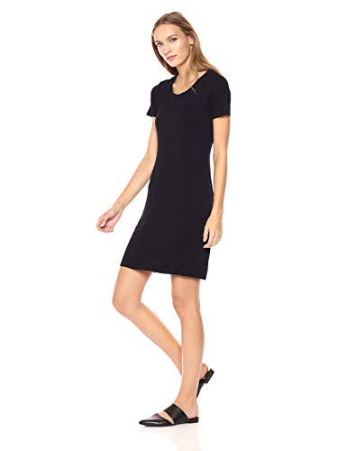 Amazon Brand - Daily Ritual Women's Jersey Short-Sleeve Scoop Neck T-Shirt Dress, Navy, X-Small