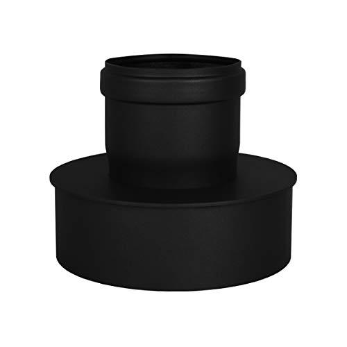 LANZZZAS pellepijp uitbreiding van Ø 80 mm naar Ø 150 mm in zwart pelletpijp pelletkachel pelletkachelpijp kachelpijp