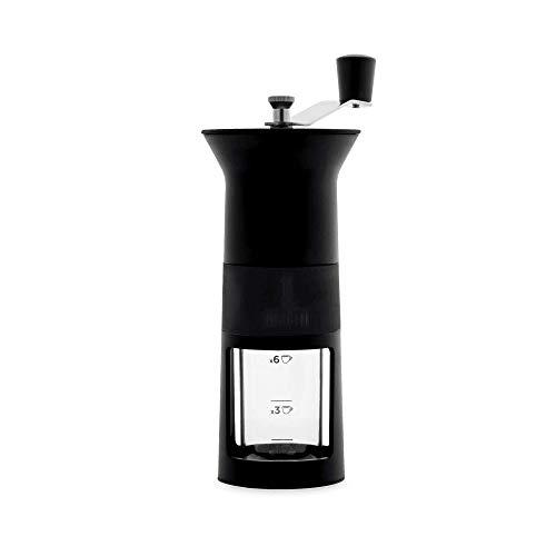 Bialetti DCDESIGN03 Espressokocher, Aluminium, Schwarz, 11,5 x 8,5 x 21,5 cm