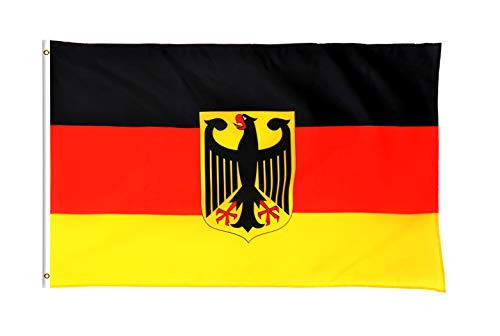 Star Cluster 90 x 150 cm Deutschland Flagge mit Adler/Deutsche Fahne/Bundesflagge/Fanartikel/Germany National Flag (DE Adler 90 x 150 cm)