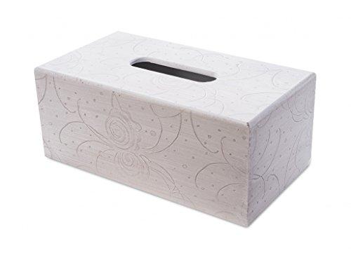 Box viso dispenser del tessuto scatola di legno bianco crema antico scatola del tessuto salviette dispenser
