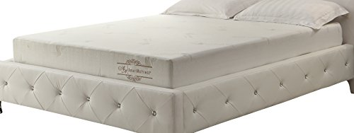 "AC Pacific The Aloe Collection 8"" Memory Foam Mattress, White, Full"