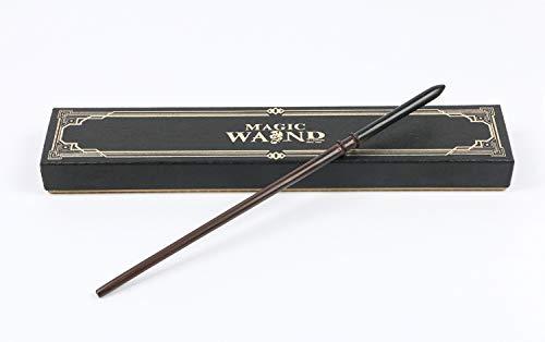 cc618 Metal del núcleo de la Varita,Varita mágica Serie Draco Malfoy Wizards Varita de Harry Potter Cosplay Atrezzo, Wizards Bastón,Purplebox,36cm