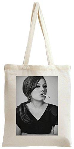 Adele Smoking Cigarette Portrait Tote Bag