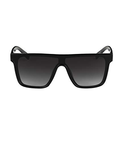 SIX Sonnenbrille mit eckiger Form in Schwarz (326-093)