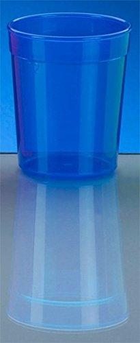 20er Set Mehrweg-Becher 0,5l - blau - Kunststoff