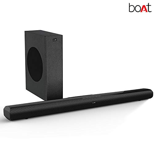 boAt Aavante 3000 Soundbar Speaker with Wireless Subwoofer, AUX, USB, Optical, Coaxial and HDMI ARC Mode Black