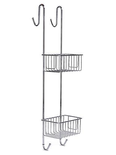 Duschablage zum Hängen Edelstahl Rostfrei - Duschablage ohne Bohren rutschfest Duschkorb zum Einhängen mit Handtuchhalter Höhe 70 cm