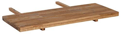 Loft24 Marian Ansteckplatte für Esstisch Tischverlängerung Esszimmertisch Küchentisch Massivholz Wildeiche (Natur, 40x90 cm)