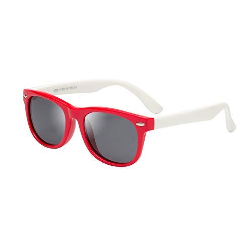 LianSan - Gafas de sol polarizadas de goma para niños, 100 %...