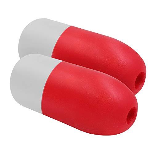 JEZERO Deep Water Float, Red/White, 5x11, 2 Pack