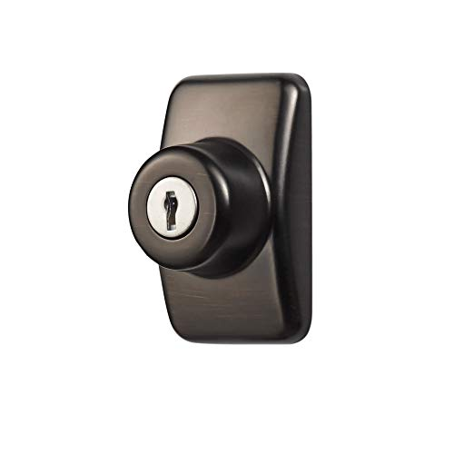Ideal Security SKGLKORB GL Keyed Deadbolt for Storm and Screen Doors Easy to Install, Oil Rubbed Bronze