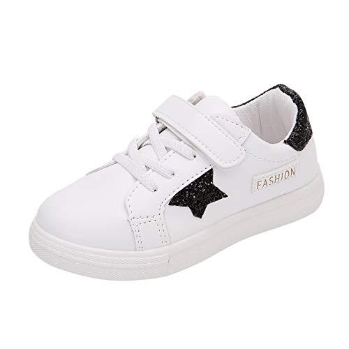 Zapatos de playa para bebés Grandes ventas, zapatos Niños Infantiles Niños Niños y niñas Star Plate Patch Leather Running Casual Negro 4.5-5 años, Niños Niñas Niños Zapatos