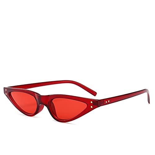 FDNFG Gafas de Sol Señoras Pequeñas Gafas Triángulos Retro Moda Gafas de Sol Mujeres UV400 Gafas de Sol (Lenses Color : C7)
