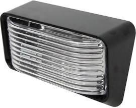 LED Porch Light - Interior Exterior Light 12V - Black Finish - AMBER LED (Clear Lens) - Waterproof - RV, Truck, Trailer, Automobile or Utility LED Lamp 300 Lumens