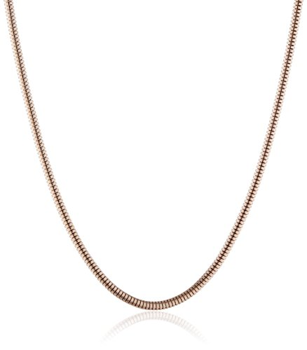 Engelsrufer Ángel de Llamadas para Mujer-Cadena Serpiente Toro Cadena de Rosa M Grosor de 1,6 mm 925 de Plata Parte Dorado 80 cm - ERNT-80-16R