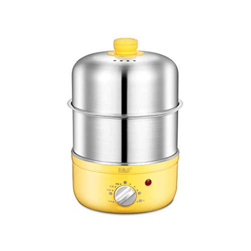 Hervidor de Huevos eléctrico-220V 350W, hervidor de Huevo de Acero Inoxidable de Doble Capa, hervidor de Huevo eléctrico para hasta 14 Huevos y Cazador de Huevos y Tortilla de Huevos Nuevo