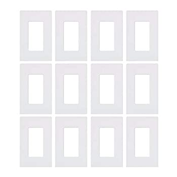 Lutron CW-1-WH 1-Gang Claro Wall Plate White 12 Pack