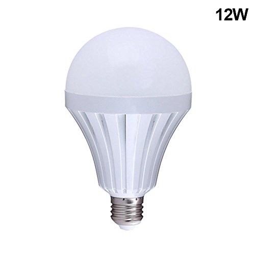 ZREAL Ampoule d'urgence intelligente LED, 5 / 7 / 9 / 12 / 15 W, E27, rechargeable, lampe de camping, d'extérieur 12W