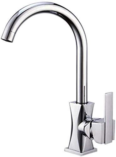 Grifo de cocina Cuarto de baño rústico Cuarto de baño Cocina Cocina frío Cable de alambre caliente Grifo,Silver