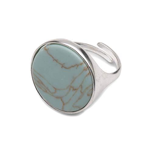 Pilgrim Ring MINA- Silber plattiert - Mint, Rohstein