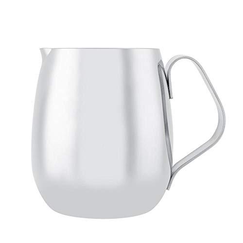 Latte in Acciaio Inossidabile Spesso Brocca Bricco Latte Tazza caffè Tazza Brocca Bricco Latte Brocca bricco Adatto Espresso Latte Art Schiuma Latte(600ml)
