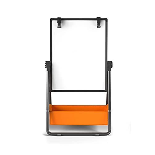 BBZZ pizarra blanca Altura ajustable de doble cara reversible magnético para el hogar niños graffiti con naranja cesta de almacenamiento (tamaño: 113 x 67 x 47 cm)