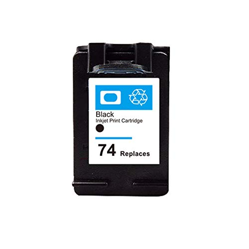 DYYPPWW Compatible 74XL 75XL Cartucho de Tinta, Alto Volumen de Impresión, Reemplazo,para HP Deskjet C4280 C4480 C4345 Impresora,Negro