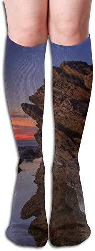 JAONGSADY Tube High Sock Boots Crew Rhode Island Compression Socks Long Sport Stockings